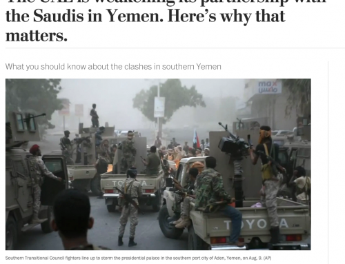YPC Researcher on Role of KSA, UAE in Yemen